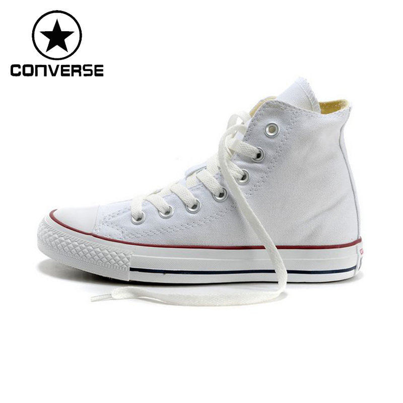 Original New Arrival  Converse Classic Canvas Skateboarding Shoes Unisex High top Sneaksers