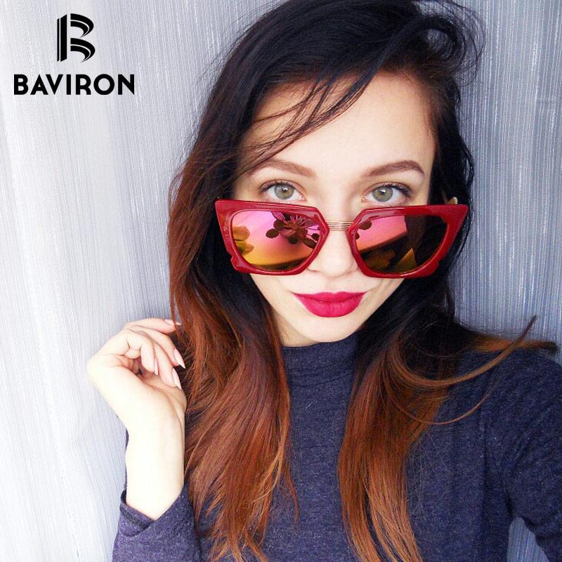 BAVIRON Big Frame zonnebril voor vrouwen Mirrored outfits Fashion - Kledingaccessoires