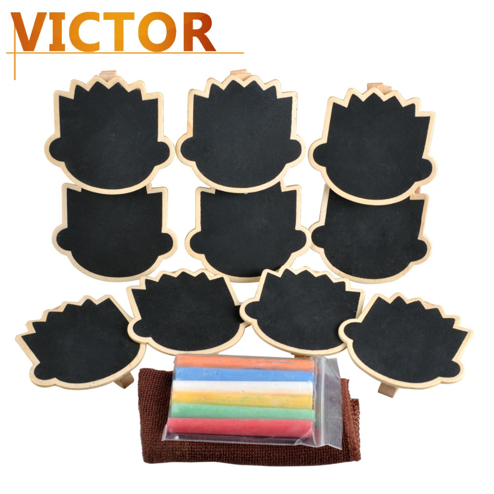 Mini Blackboard Clips kit with chalks set Plaques for wedding buffet signs party decorations Chalkboard Message Board Signs