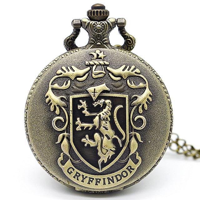 Antique Steampunk Bronze Quartz Pocket Watch Necklace Chain Pendant Gift relogio