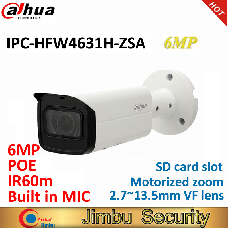 Dahua 6MP IP bullet Camera IPC HFW4631H ZSA replace IPC HFW4431R Z with Build in Microphone