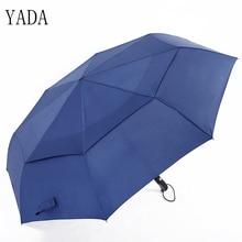YADA Automatic Double Golf Umbrella High Quality Sunny & Rainy Large Flod Car For Womens Windproof Umbrellas Male YS394