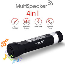 4in1 2200mAh LED Flashlight Rechargeable for Bicycle Charger Wireless Stereo Bluetooth Speaker Electric Torch with Power Bank
