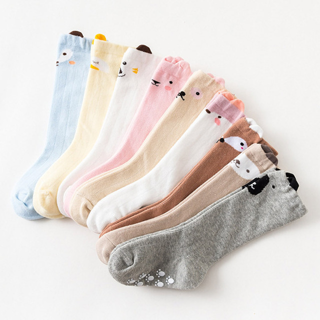 3 Pairs of Knee High Baby Socks