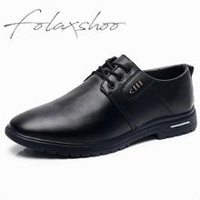 Folaxshoo Slip-on Spring Autumn Loafers Mocassin Homme Casual Shoes PU Leather Loafers Man Breathable Driving Mens Black Shoes