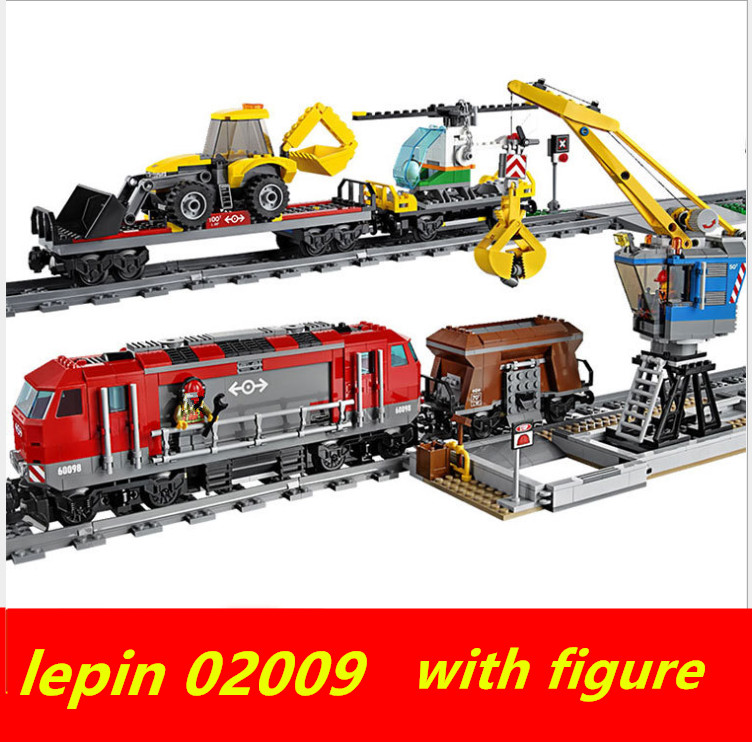 Lepin 02009 technic lepin train City Engineering rc train set Compatible legoing technic legoing trein 60098 Building Block lepin 02009 1033pcs city engineering remote control rc train building block compatible 60098 brick toy