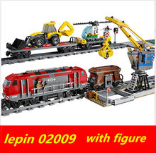 lepin train Lepin 02009 technic City Engineering rc train set Compatible legoing technic legoing trein 60098 Building Block(China)