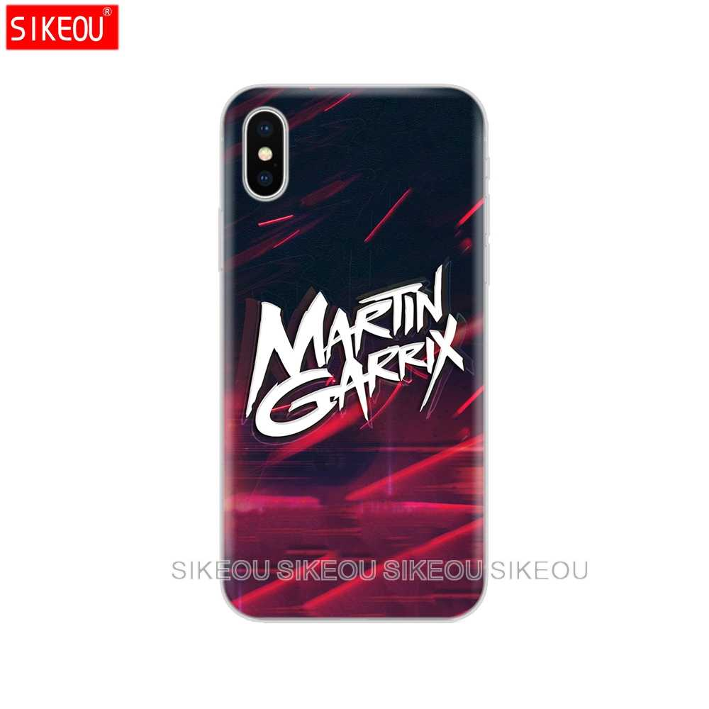 Silicone Cover Phone Case For Iphone 6 X 8 7 6s 5 5s SE Plus 10 XR XS Max Case DJ Martin Garrix Music note
