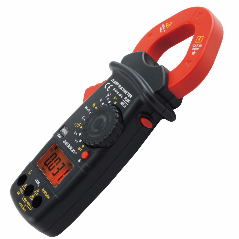 Digital Clamp Meter Autorange Phase Sequence Test DC AC Voltage AC Current Continuity Diode Frequency Resistance with Buzzer clip on ammeter digital clamp meter current voltage resistance test clamp meter