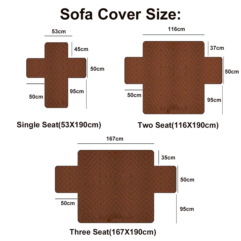 Image 3 - 1/2/3 Seat Cotton Dust proof Sofa Covers For Dogs Pets Kids Anti Slip Quilted Recliner Couch Slipcovers Furniture Protector-in Sofa Cover from Home & Garden