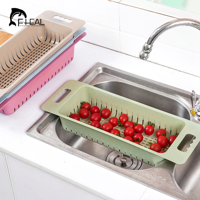 kitchen sink rack motel with fheal multifunction drain plastic dish cutlery drainer drying holder fruits cup tool