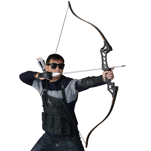 60inch 30-50lbs Recurve Bow Archery American Hunting Shooting Take Down Bows Body Mechanics for Right Hand Takedown Bow
