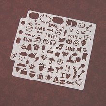 Small Logo Icon Sticker Painting Stencils for Diy Scrapbooking Stamps Home Decor Paper Card Template Decoration Album Crafts Art love cat heart sticker painting stencils for diy scrapbooking stamps home decor paper card template decoration album crafts art