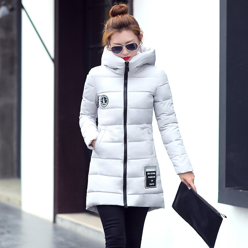 2017 Winter New Hot Fashion Women Thick Warm Long Sleeve Zipper Jackets Female Cotton-padded Hooded Long Parkas Coats 2017 winter women parkas slim feathers collar female cotton padded coats jackets long thick warm hooded new hot la1013b 16608