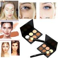 New Women's Fashion 6 Color Professional Camouflage Powder Brush Face Pressed Powder Cream Contour Palette Suit Beauty Maquiagem Health & Beauty