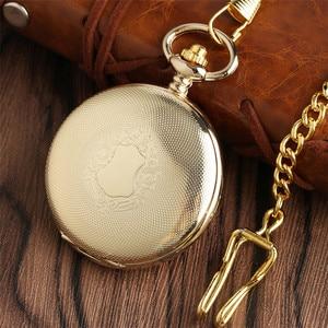 Image 3 - Gouden Spiegel Ontwerp Volledige Hunter Mechanische Hand Winding Zakhorloge Romeinse Cijfers Dial Luxe Retro Souvenir Klok Geschenken