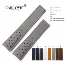 CARLYWET 20 22mm Genuine Leather Watchbands Calf Grey Suede VINTAGE Replacement Wrist Watch Band Strap Belt