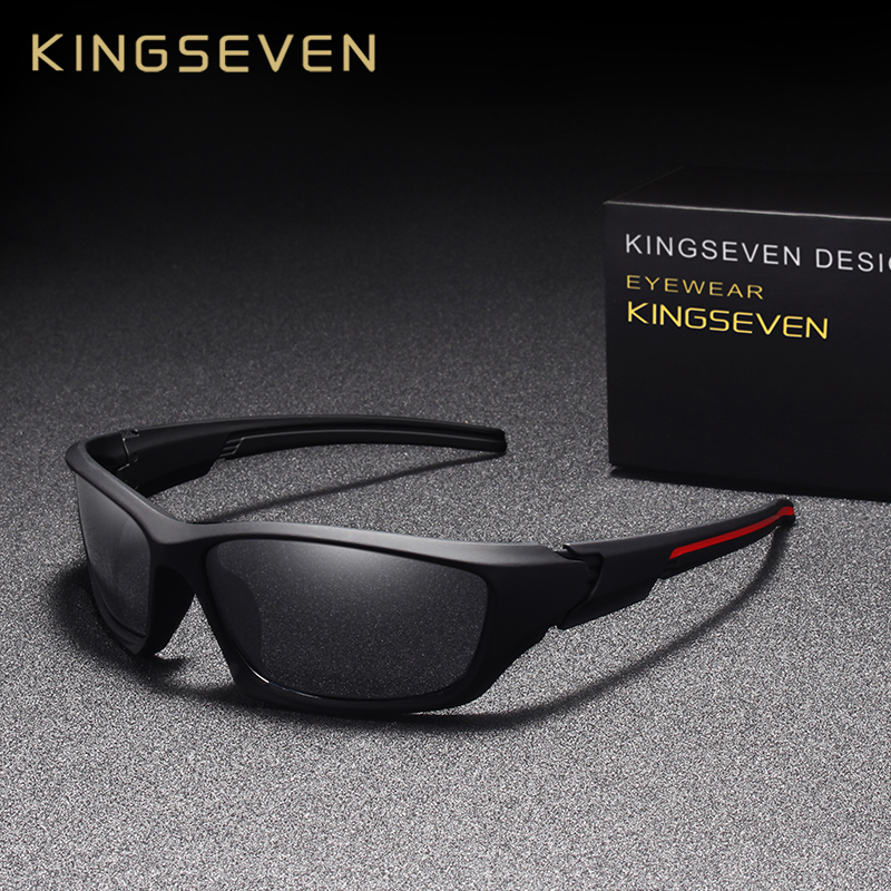 KINGSEVEN Fashion Sunglasses Men Driving Night Vision Sun Glasses For Men Brand Design High Quality Mirror Eyewear Male