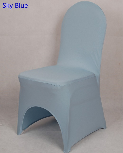 Awesome Us 1 6 Sky Blue Colour Chair Cover Lycra Spandex Stretch Banquet Universal Chair Cover For Wedding Decoration Wholesale On Sale In Chair Cover From Interior Design Ideas Clesiryabchikinfo
