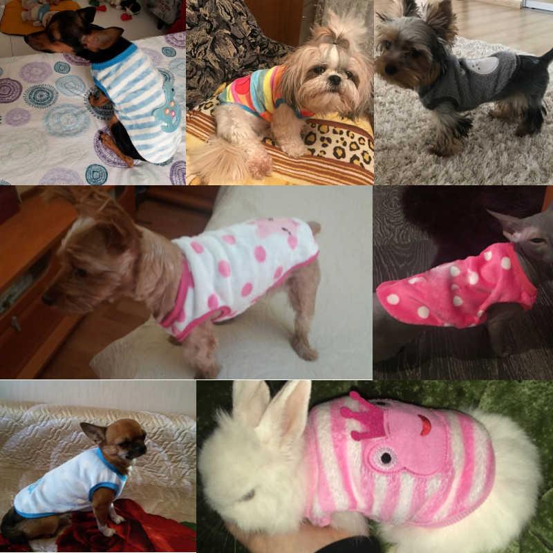 귀여운 강아지 옷 의상 따뜻한 양털 강아지 애완 동물 고양이 코트 자켓 가을 겨울 의류 작은 개 고양이 치와와 퍼그 의류