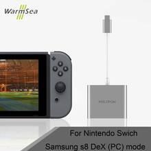 USB 3.1 Type C Adaptateur avec HDMI pour Nintend Commutateur dock Samsung S8 DEX PC Mode Note 8 thunderbolt 3 USB-C De Charge stand