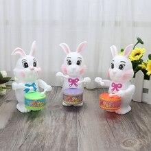 Кролик барабанная игрушка заводная развивающая игрушка подарок для ребенка заводная игрушка