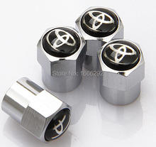Toyota Emblem Great Quality Metal Wheel Tire Valve Caps For FJ200,Highlander,Prado, Camry, Reiz,Klugar,Corolla
