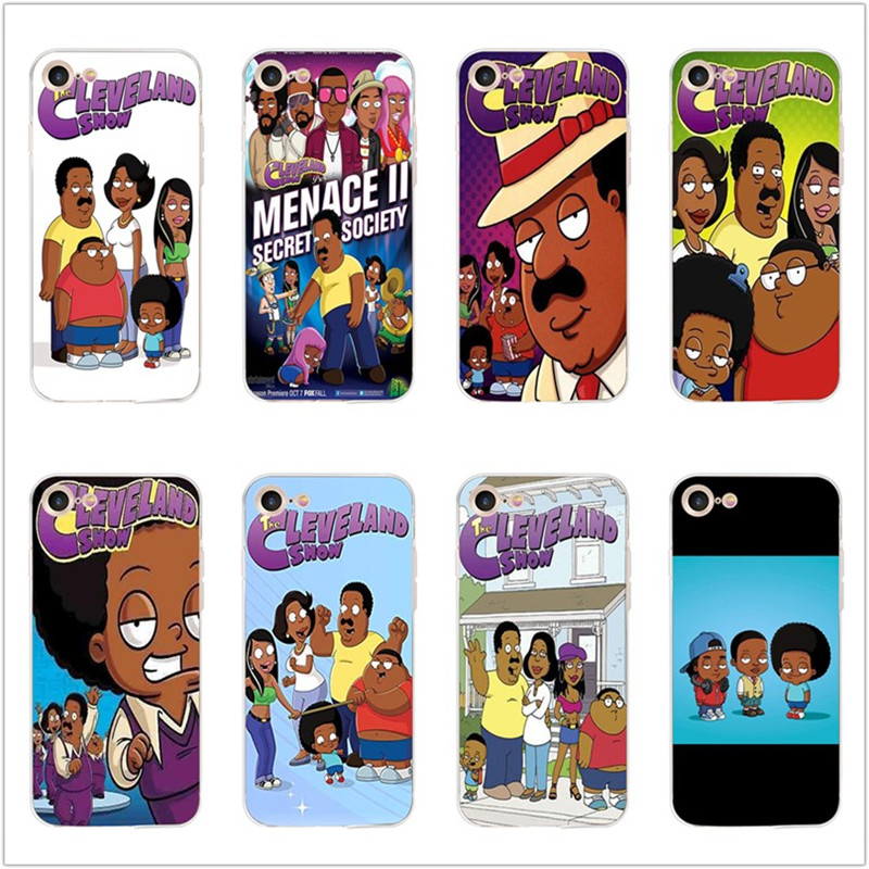 Cartoon The Cleveland Show soft TPU phone case for iphone x xr xs max cover 6s 7 8 6 plus 5s 5 se silicone Funny shell Coque in Half wrapped Cases from Cellphones Telecommunications