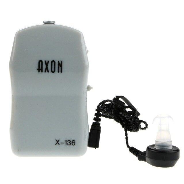 Завод прямые продажи Pocket слуховых аппаратов AXON X-136 Объем Регулируемая Звук Усилитель Голоса устройство низкий уровень шума Ухо уход 200 шт./лот