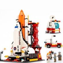 GUDI Spaceport Space shuttle launch center Building Blocks Sets Bricks Educational Classic Toys For Children Gift