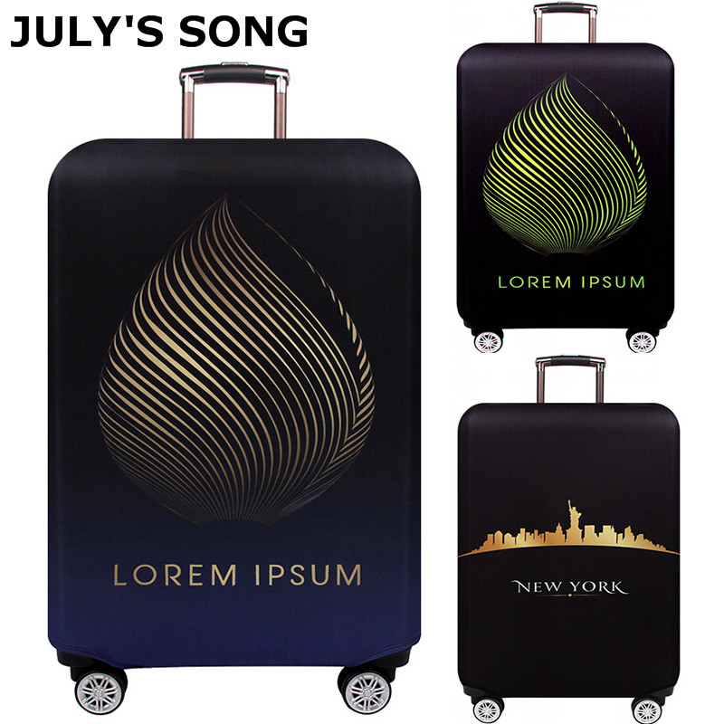 JULY'S SONG Travel Suitcase Elastic Dust Cover Trolley Luggage Cover Protection Case Suitcase Protective Case cover