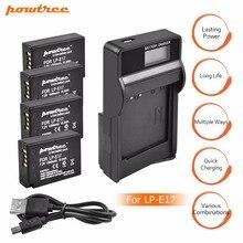 цена на 4Packs 7.2V 1500mAh LP-E17 LPE17 LP E17 Camera Battery + USB Charger For Canon EOS M3 M5 750D 760D T6i T6s 8000D Kiss X8i L15