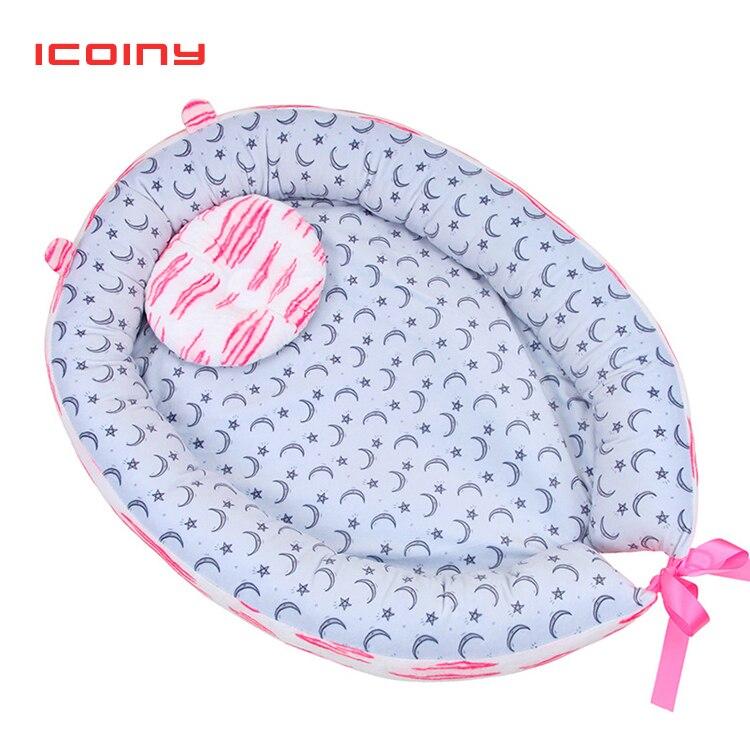 Nid de bébé lit voyage berceau bébé lit infantile CO dormir coton berceau Portable blottir nouveau-né bébé couffin BB artefact