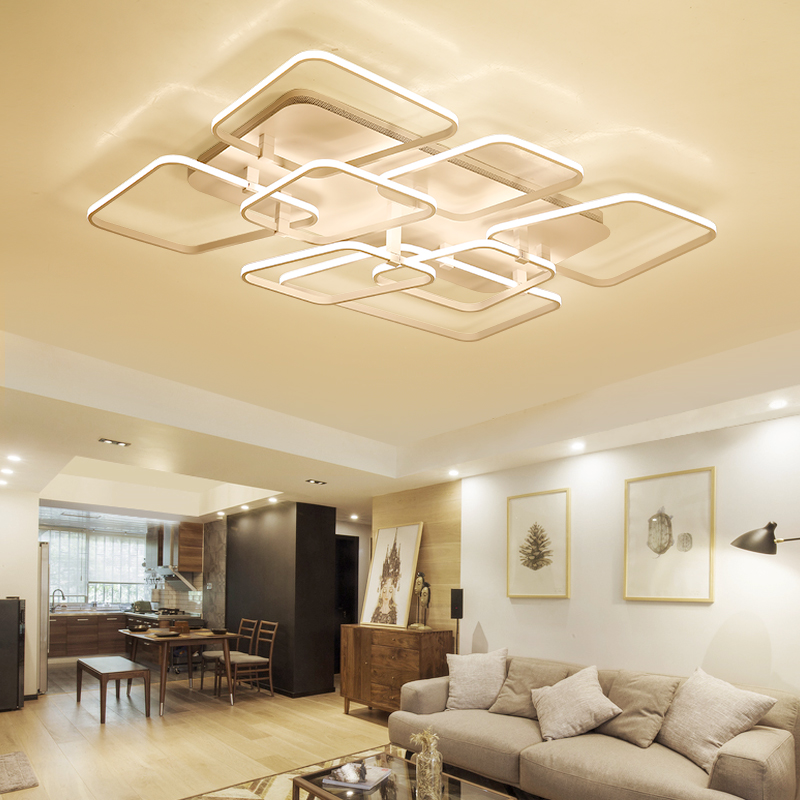 led Ceiling Lights remote control living room bedroom dining room acrylic iron body Indoor home mounted lamp lighting fixtures new modern led chandeliers for living room bedroom dining room acrylic iron body indoor home chandelier lamp lighting fixtures