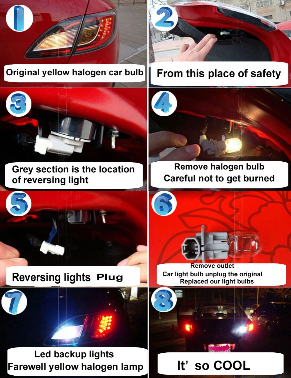 AutoEC 100X Led Car lighting T10 168 194 1smd 5050 LED auto bulb license plate Light pink yellow white #LB11