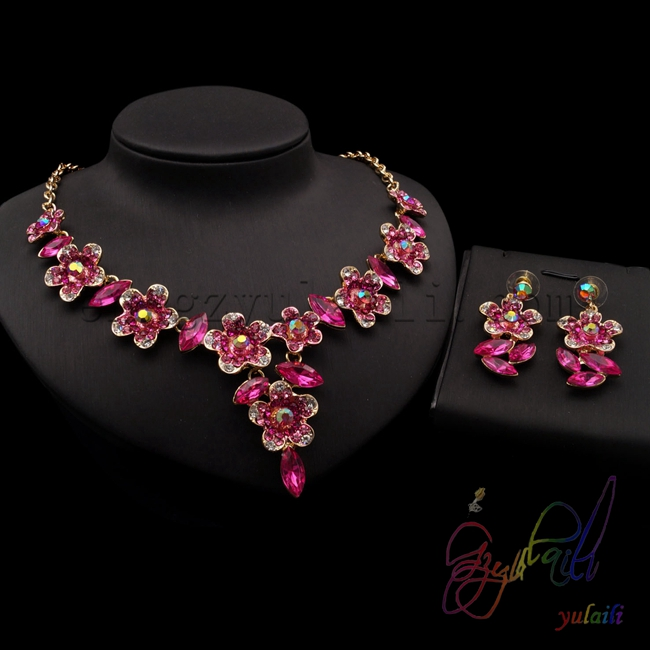 little girl necklace and earrings jewellery set Designer Fashion Jewelry Sets christmas gift ideas