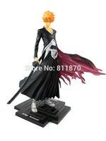 2014 New Free Shipping Anime Bleach Cosplay Kurosaki Ichigo Latest Style Action Figure PVC 20cm 7