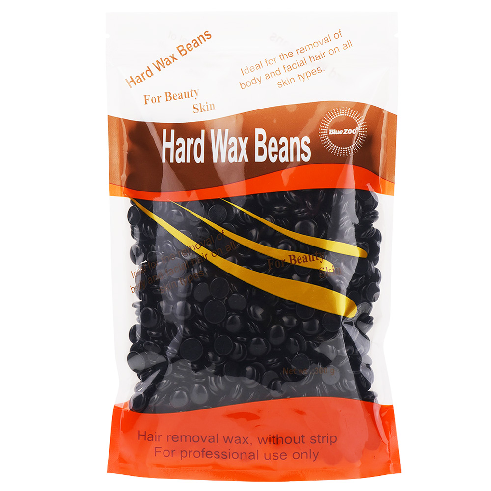 300g Black Beans No Strip Depilatory Hot Film Hard Wax Pellet Waxing Bikini Face Hair Removal Bean For Women Men