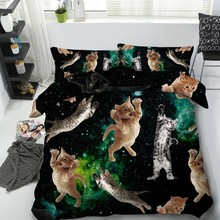 Cat bed set 3D Bedding sets Luxury sheet Duvet cover in a bag sheets linen California King Queen size twin full 4pcs