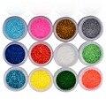 Женские модные, разноцветные блестки для ногтей,набор из 12 штук,акриловые 3 Д украшения ногтей для профессионального  использования