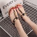 Women's Summer New Clip Toe Flat Sequins PU Elastic Sleeve Sandals Comfortable Rome Female Sandals 36-40 Yards .HYKL-CH8803