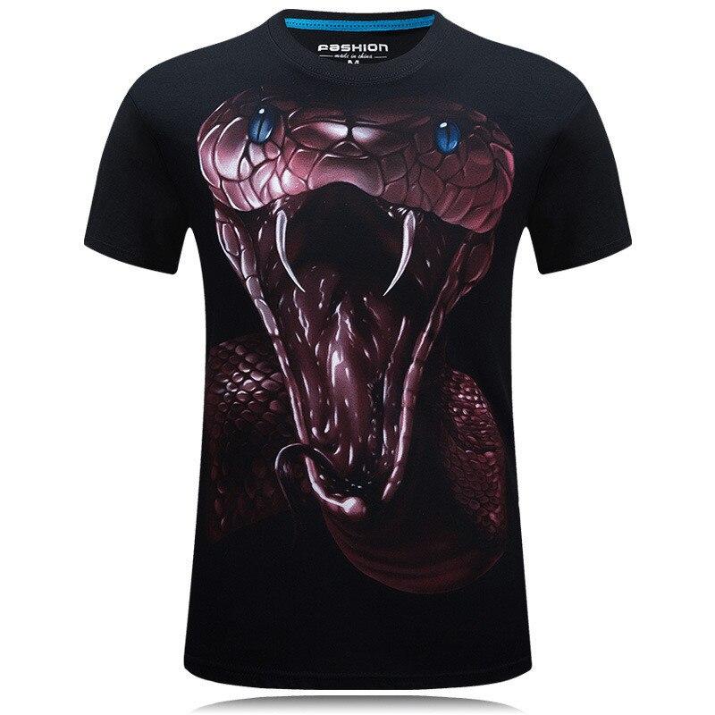 3D Printed T Shirts Snake Men Short Sleeve tshirts 2019 New Fashion Woman Funny Men Hip Hop Tops Summer Loose O-Neck Tops Tee 1