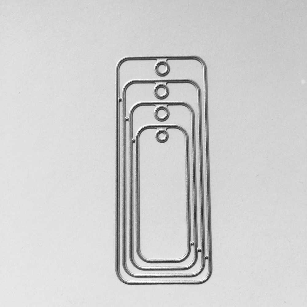 32X77mm Rectangular tag Christmas Dies Metal Cutting Dies new 2018 scrapbooking dies metal Die Cuts background for gift