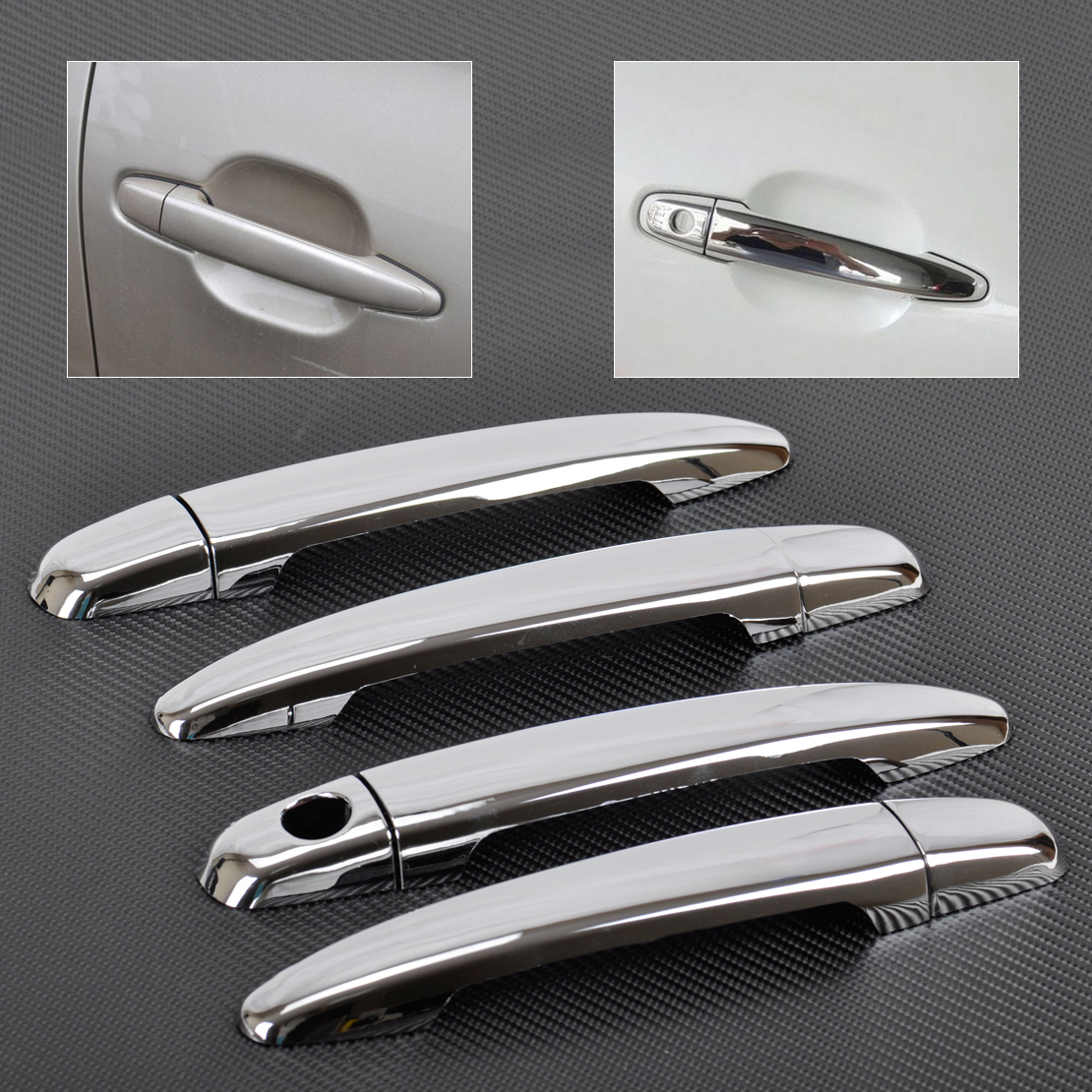 beler Door Handle Cover Trim ABS Chrome for <font><b>Lexus</b></font> GS300 GS350 <font><b>GS450h</b></font> GX470 RX330 RX350 Toyota Camry Tacoma Avalon 4Runner image