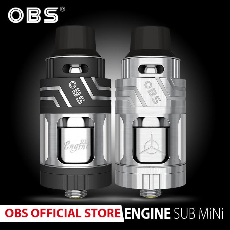 Original OBS  Engine Sub Mini Atomizer With 3.5ml Tank And 17mm Organic Cotton Coil For E- Cigarettes Vape