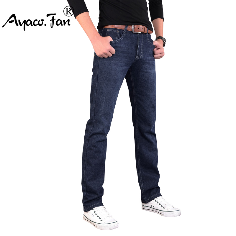 Jeans For Men Mannen Vaqueros Blue Slim Denim Straight Regular Casual Jeans Men's Classical Fashion Trousers Size 28 to 38 envmenst 2017 male floral bottom blue hole ankle length jeans men s jeans casual zipper straight denim trousers size 28 40
