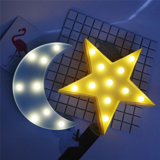 Belle Couverture De Tableau Lampe Led Night Light Star Lune Lampes