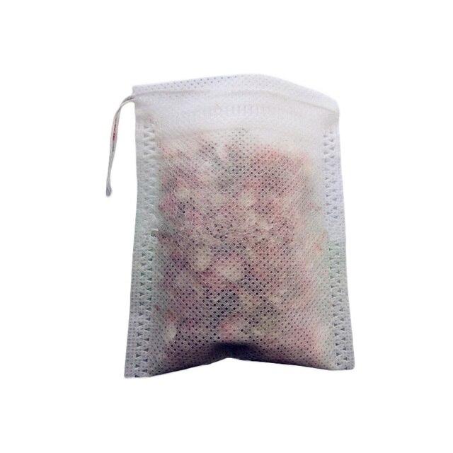 100pcs/lot 10x12cm Teabags String Heat Seal Filter Paper Herb Loose Tea Bag