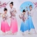 Chino Clásico Traje de la Danza del niño Mujer de Baile Yangko Traje Chica Paraguas Danza Ropa Ropa de Danza Folk Chino 18