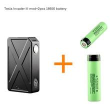 TESLACIGS Tesla Invader 3 III 240W Box Mod Vaporizer 510 Thread Electronic cigarette vape mod with 2pcs battery NCR18650B inside